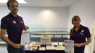 UNISON organises running a stall at Musgrove Hospital