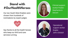 Stephanie and Jeff, UNISON SW #OurHealthHeroes South West finalists